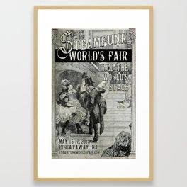 The 2015 Steampunk World's Fair Poster 3 Framed Art Print