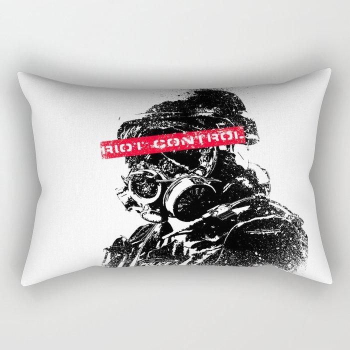 Riot Control Rectangular Pillow