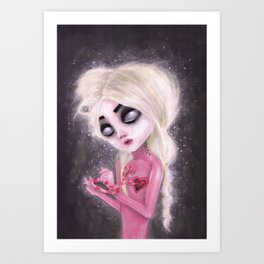lost forever in a dark space Art Print