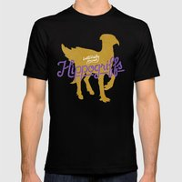 Hippogriffs Black Mens Fitted Tee MEDIUM
