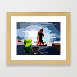 People Watch Framed Art Print