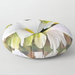 Black Nightshade in the Morning Floor Pillow