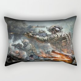 US Marines Devil-Dogs are marching on Rectangular Pillow