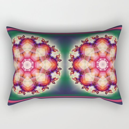 Decorative mandala abstract with translucent colors Rectangular Pillow