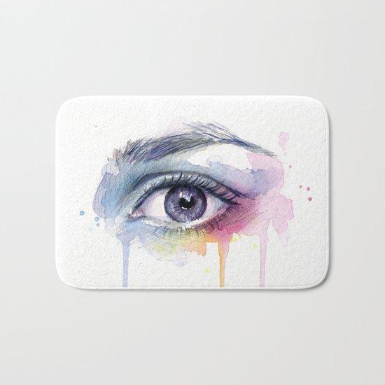 Colorful Eye Dripping Rainbow Bath Mat