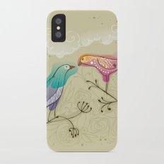 couple of beautiful love birds iPhone X Slim Case