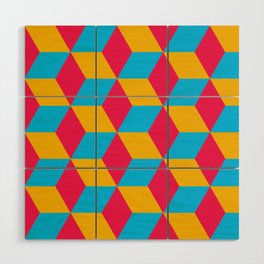 Tessellation Cube Wood Wall Art