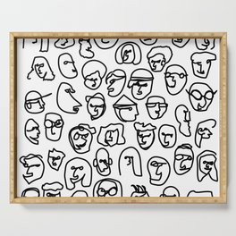 Faces Serving Tray