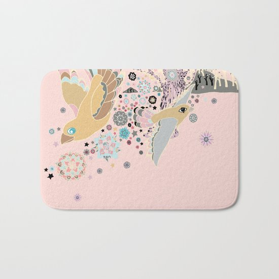 Pink Woods Bath Mat