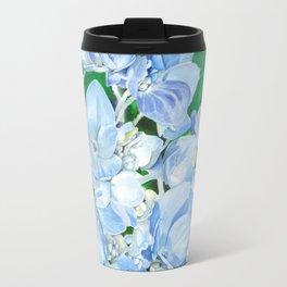 Watercolor Hydrangea Blossoms Travel Mug