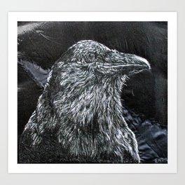 Crow Blacker Than Ever Art Print