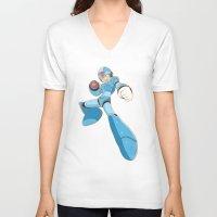 mega man V-neck T-shirts featuring Mega-Man by HypersVE