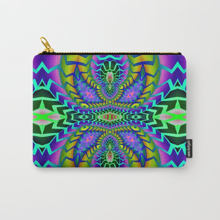 Tribal Rainbow Lotus Carry-All Pouch