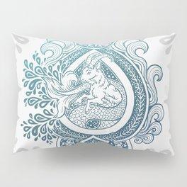 Paisley Capricornus   Turquoise Blue Ombré Pillow Sham