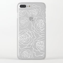 White Roses Clear iPhone Case