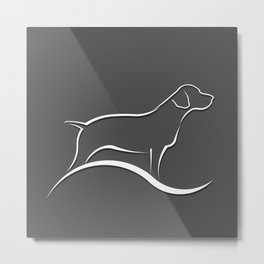 Pointer Dog Metal Print