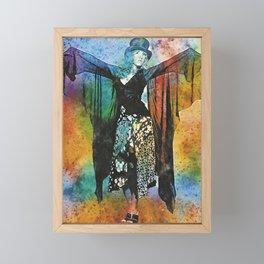 Stevie Nicks Watercolour Print and poster Framed Mini Art Print