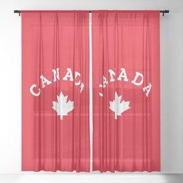 Canada Day Maple Leaf Sheer Curtain