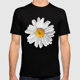 Daisy Blues - Daisy Pattern on Cornflower Blue T-shirt