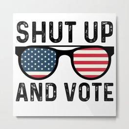Shut Up And Vote! Joe Biden Vintage Retro Sunglasses Debate Metal Print