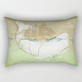 The ghost of Captain Ahab, Moby Dick Rectangular Pillow