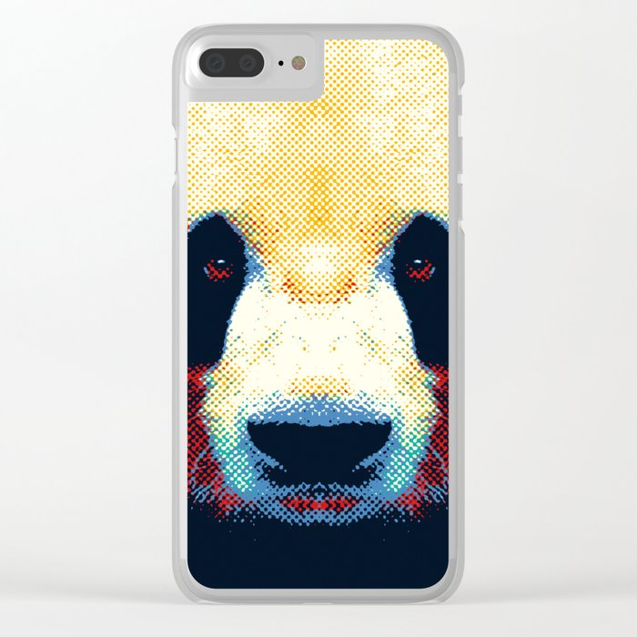 Panda - Colorful Animals Clear iPhone Case