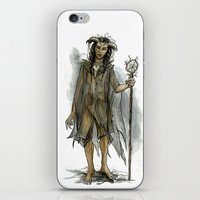 tina fey iPhone & iPod Skins featuring death fey by laya rose