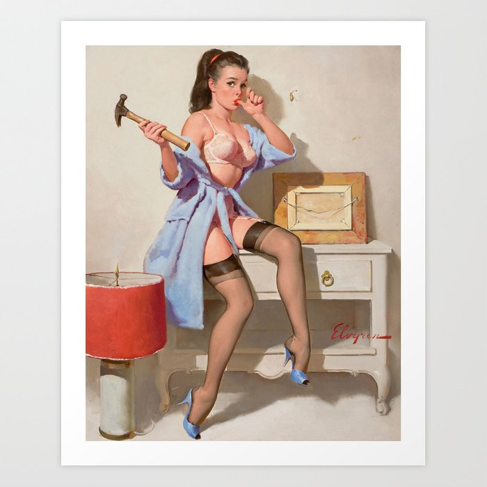 Wrong Nail Pin-up Girl Kunstdrucke