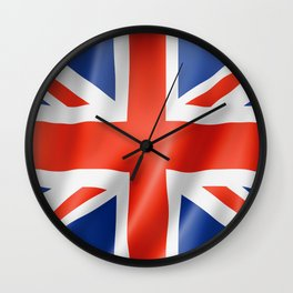 UK / British waving flag Wall Clock