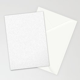 Spacey Melange - White and Pale Gray Stationery Cards