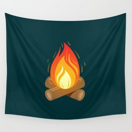 Camp Fire for Cold Nights Wall Tapestry