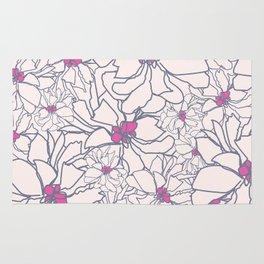 Pink Peony Garden Rug