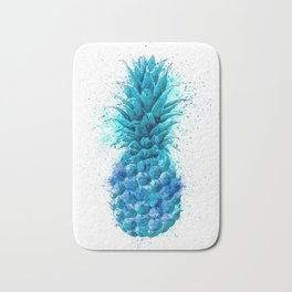 Blue Pineapple Bath Mat
