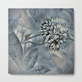 Barely Blue Metal Print