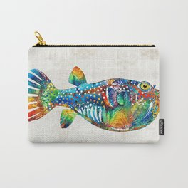 Puffer Fish Art - Blow Puff - By Sharon Cummings Carry-All Pouch