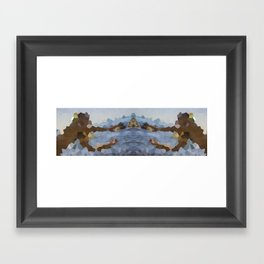 The mystery of the reaching polygon Framed Art Print