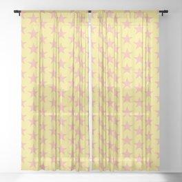 Stars Pattern 58 Sheer Curtain