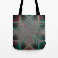 tron Tote Bags featuring Tron Star by Vortex Interactive