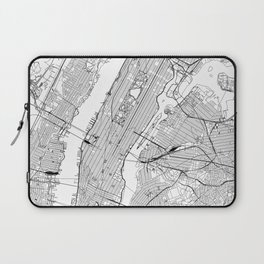 New York City White Map Laptop Sleeve
