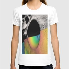 Rainbow Moon Craters T-shirt