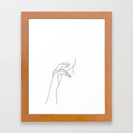 Hands line drawing illustration - Grace Framed Art Print