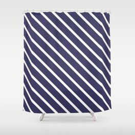 Purple Grape Diagonal Stripes Shower Curtain