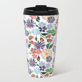 Springtime Floral Metal Travel Mug