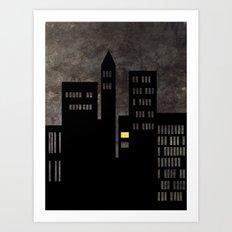 City Skyline Light Art Print