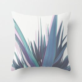 Holographic Leaves Throw Pillow