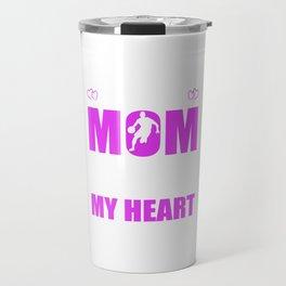 Basketball Moms Full Heart Mother Day T-Shirt Travel Mug
