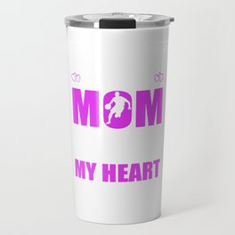 Basketball Moms Full Heart Mother Day T-Shirt Travel Mug