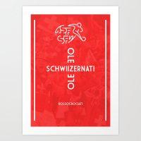 switzerland Art Prints featuring Switzerland by liamhohoho