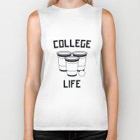 college Biker Tanks featuring College Life by Danielle Menard