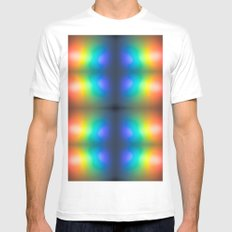 Chaos in colour Mens Fitted Tee MEDIUM White